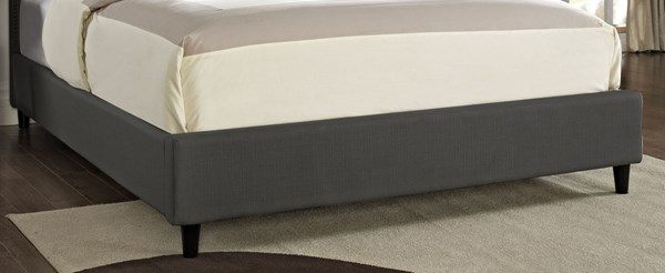 Grey MDF Fabric Polyester Queen Upholstered Footboard / Rails PWL-511-056
