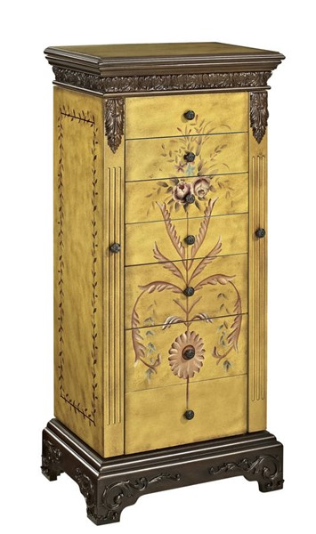 Powell Furniture Masterpiece Hand Painted Jewelry Armoire PWL-582-314