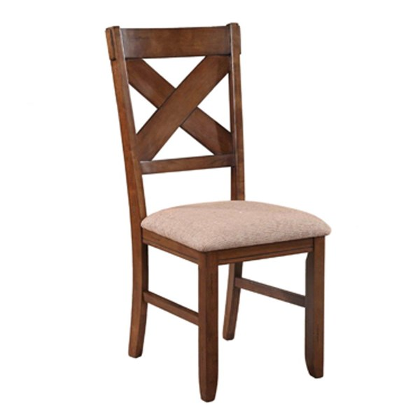 2 Kraven Brown Fabric Wood Dining Side Chairs PWL-713-434