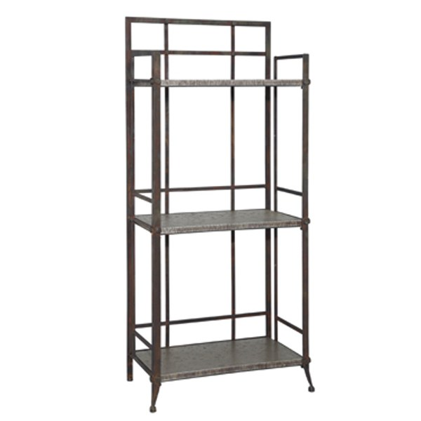 Foundry MDF Antique Pewter Tall Bookcase w/3 Shelves PWL-730-250