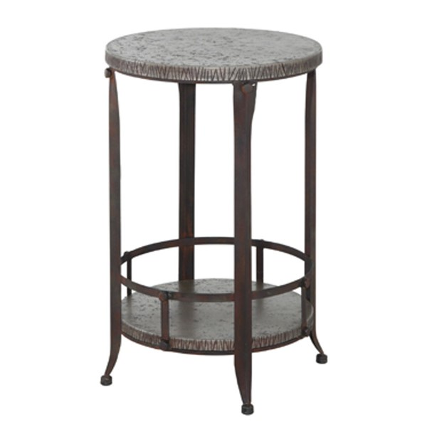Foundry Antique Pewter Metal Round Accent Table PWL-730-351