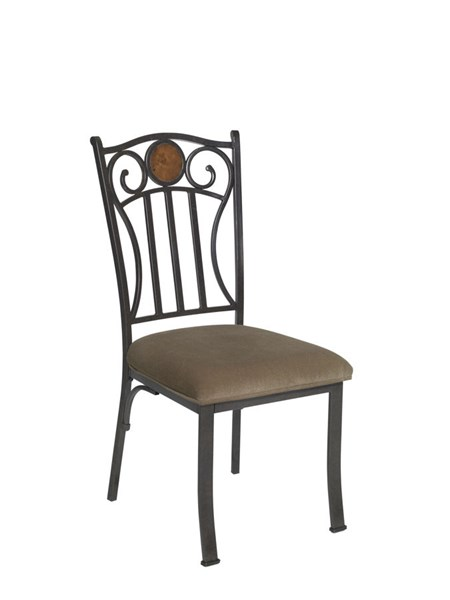 2 Abbey Road Bronze Metal Armless Side Chairs PWL-731-434X