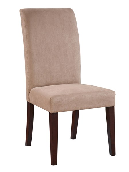 2 Classic Seating Beige Wood Slip Over Parsons Chairs PWL-741-440X