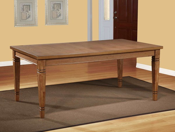 Powell Cafe Collection Traditional White Veneer Blair Dining Table PWL-844-730T2