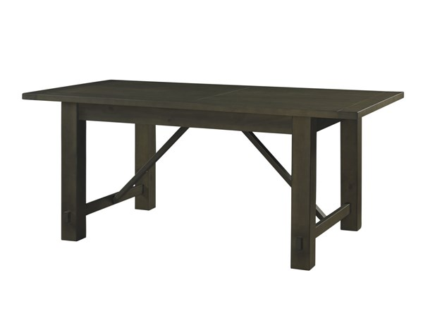 Casual Rustic Pine Wood Autumn Falls Rectangular Dining Table PWL-846-417