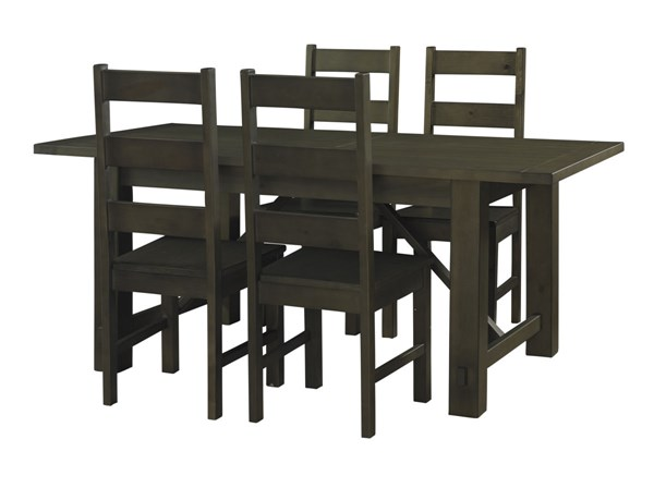 Casual Rustic Wood Autumn Rectangular 5pc Dining Table Sets PWL-846-4-DT