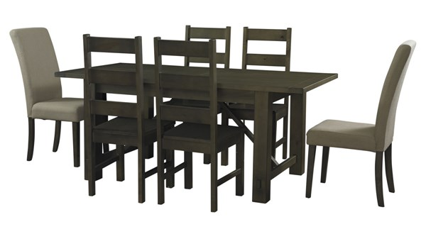 Casual Rustic Wood Autumn Rectangular 7pc Dining Table Sets PWL-846-4-DT-UP
