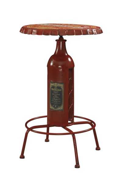 Bottle Collection Red Iron 3pc Counter Height / Bar Set PWL-867-S1