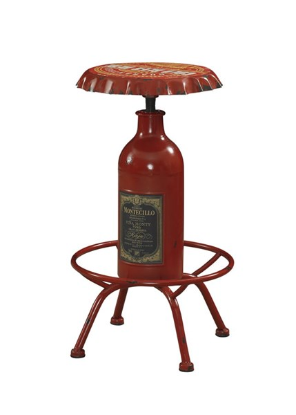 Bottle Collection Red Iron Bar Stool PWL-867-727