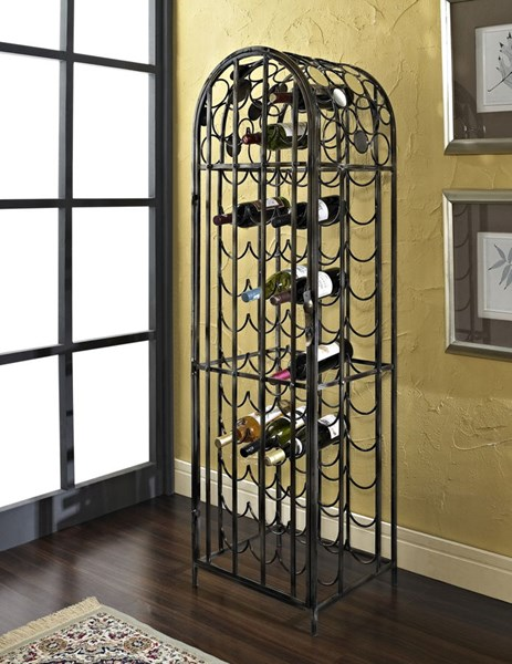 Reflections Modern Gloss Metal Mirror Wine Rack PWL-928-428