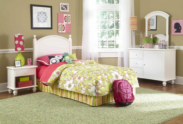 Powell Furniture Youth White Bedroom PWL-929-189