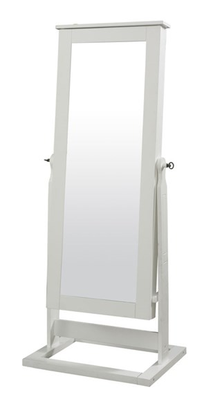 White Solid Wood MDF Cheval Mirror PWL-929-230
