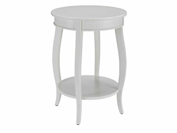 Contemporary White MDF Solid Wood Shelf Round Table PWL-929-351
