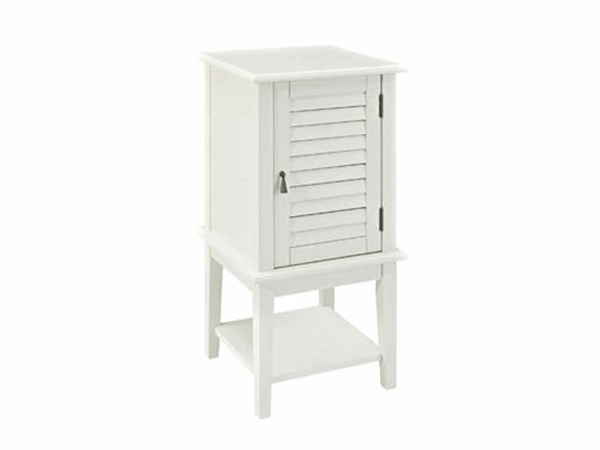 White MDF Solid Wood Shutter Door Square Table PWL-929-352