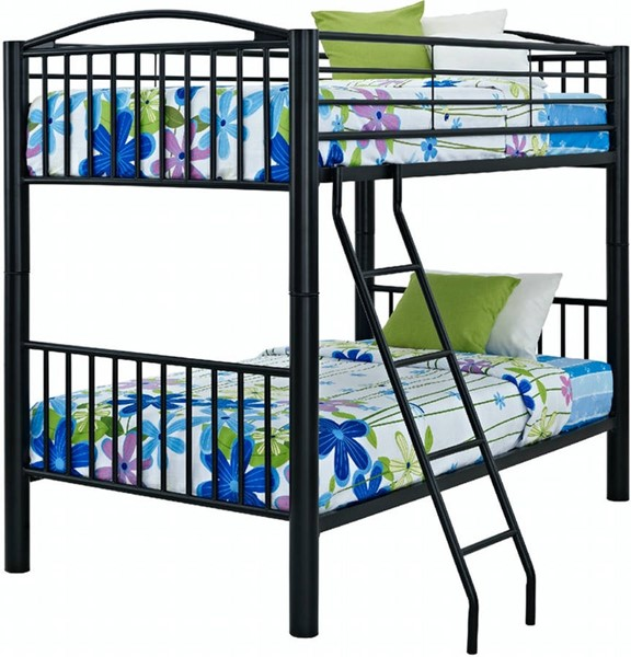 Powell Furniture Youth Black Twin Over Twin Bunk Bed PWL-938-138