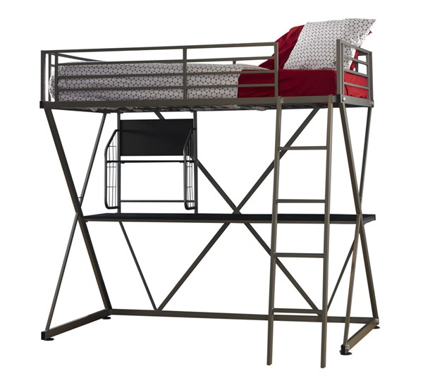 Powell Furniture Youth Pewter Z Loft Bed PWL-941-119