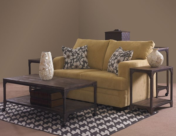 Benjamin Neutral Metal Base Wood Veneer Coffee Table Set PWL-958-OCT