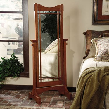 Powell Furniture Mission Oak Cheval Mirror PWL-993-230