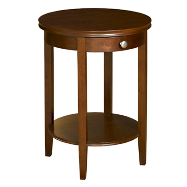 Contemporary Cherry MDF Birch Veneer Top Shelf Accent Table PWL-998-506