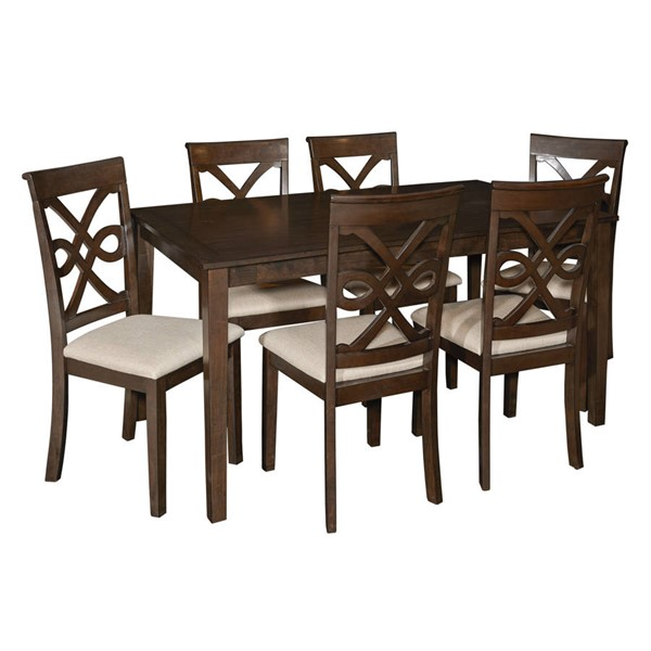 Powell Furniture Leighton Espresso 7pc Dining Set PWL-D1026D16