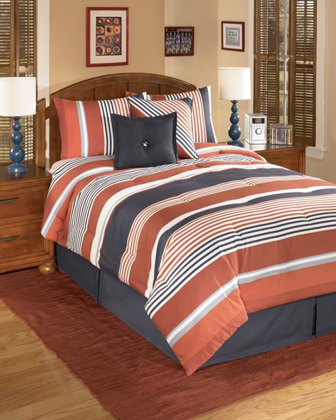 Manning Youth Stripe Fabric 5pc Twin Set Q309001T