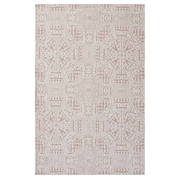 Modway Furniture Javiera Ivory Cameo Rose Moroccan Area Rug - 5 x 8 R-1018B-58