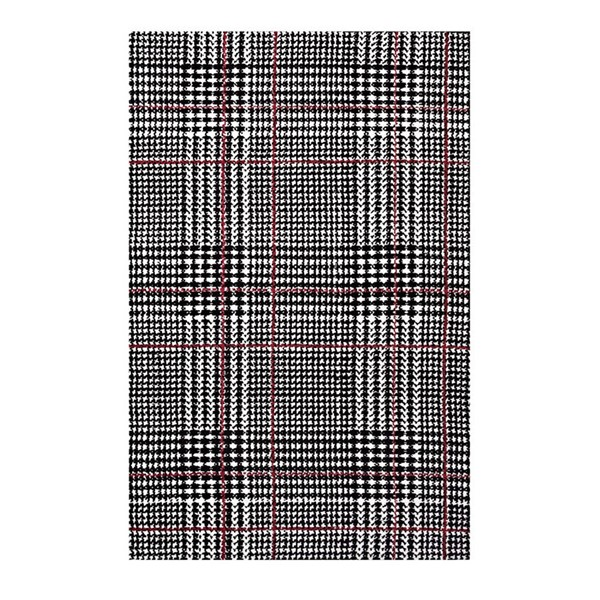 Modway Furniture Kaja Black Abstract Plaid Area Rug - 5 x 8 R-1024A-58