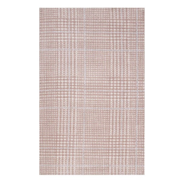Modway Furniture Kaja Cameo Rose Abstract Plaid Area Rug - 5 x 8 R-1024B-58