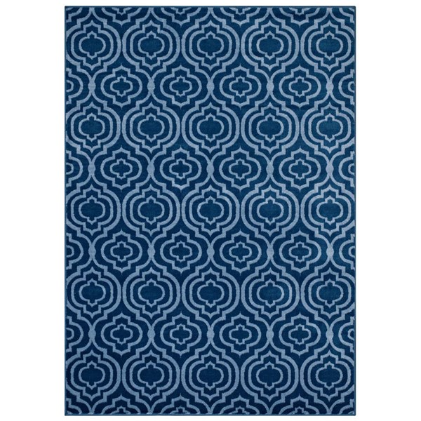 Modway Furniture Frame Light Blue Moroccan Trellis Area Rug - 5 x 8 R-1130B-58