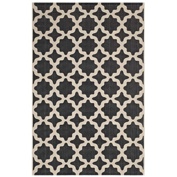 Modway Furniture Cerelia Black Moroccan Trellis Area Rug - 8 x 10 R-1139F-810