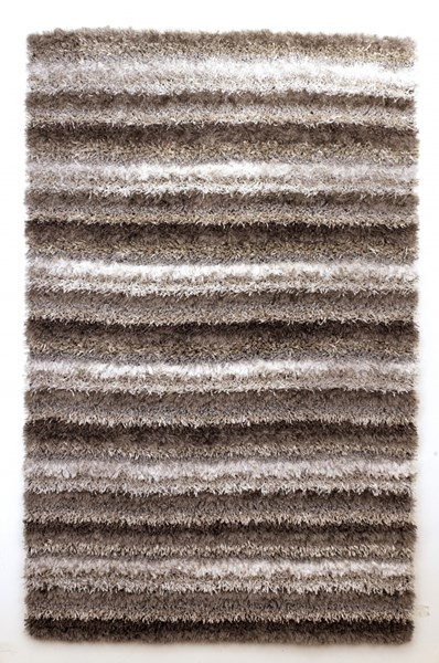 Wilkes Contemporary Gray White Fabric Medium Rug R099002