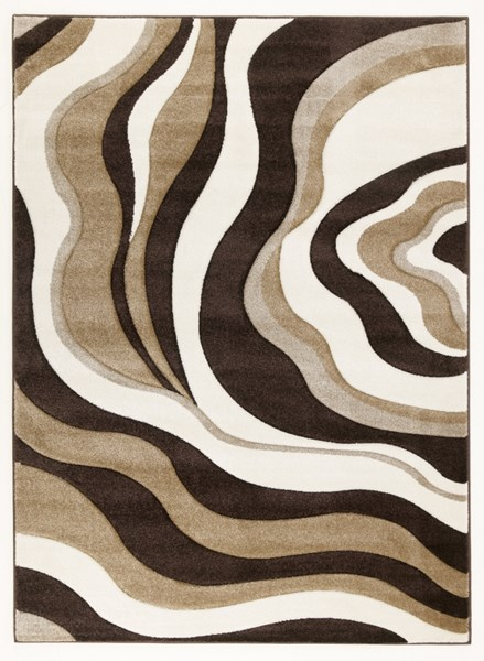 Rivoletto Contemporary Brown Ivory Medium Rug R230002