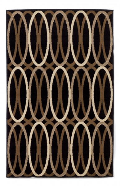 Kyle - Clay Contemporary Black Brown Small Rug R268002