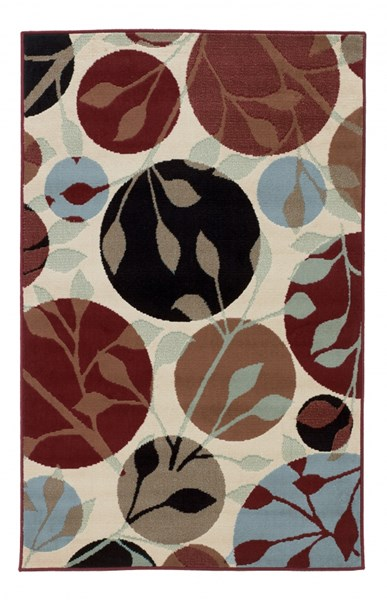 Anya - Leaf Contemporary Wool Rectangle Small Rug R270002