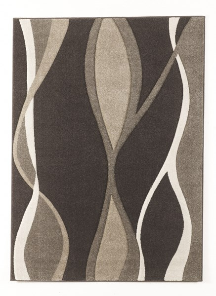 Cadence Contemporary Neutral Medium Power Loomed Rug R316002