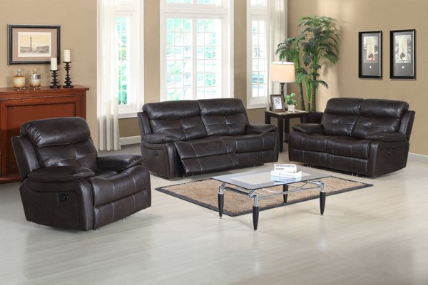 Metro Contemporary Brown Polyester Living Room Set RH-1131-LR