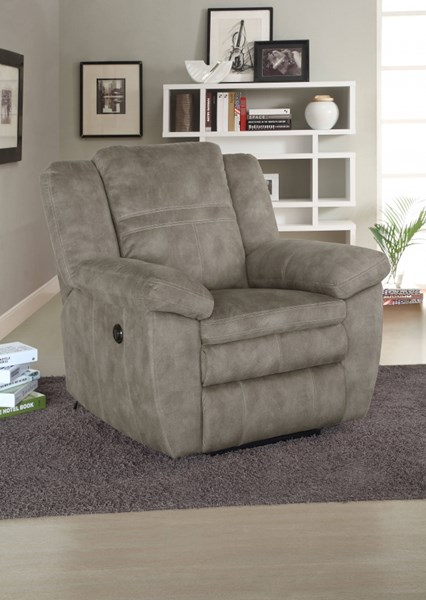 Bronson Sultry Pecan Padded Arms Seats Wings & Backs Glider Recliner RH-1194-002-210