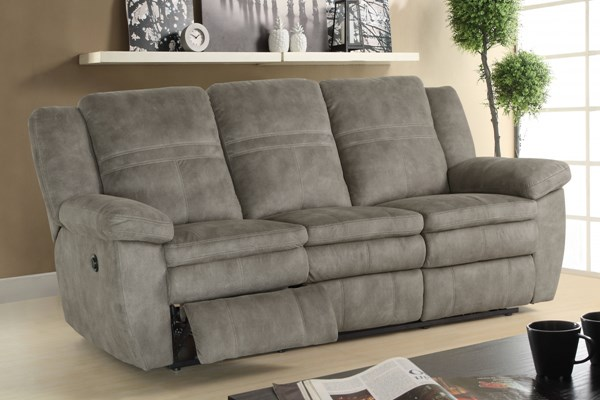 Bronson Sultry Pecan Padded Arms Seats Wings & Backs Power Sofa RH-1194-403-210