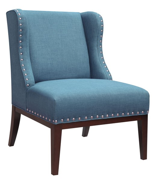 HMidea Blue Upholstered Wingback Accent Chair RH-156DS-A293-093-316