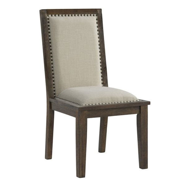 HMidea Brown Upholstered Dining Chair RH-176-C135-140A