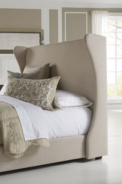 Contemporary Grey Wood Fabric Wing Queen Upholstered Headboard-5/0 RH-DS-1882-250