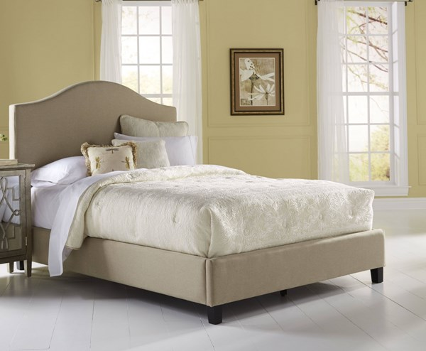 Modern Brown Fabric Hardwood Upholstered Queen Footboard And Rails RH-DS-1885-251