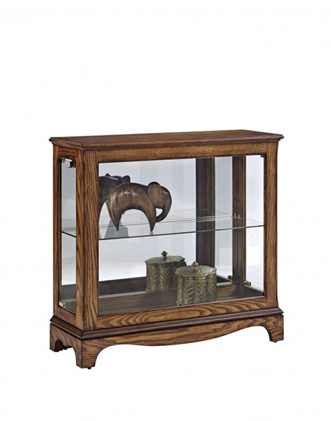 Wood Glass Metal Console w/Light Wood Color RH-21495