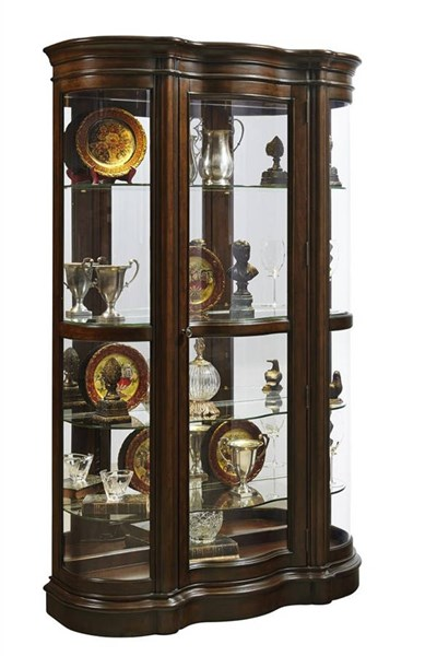 Pulaski Furniture Harley Shaped Brown Door Curio RH-21519