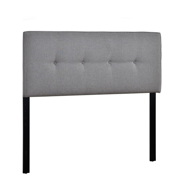 Home Meridian Grey Fabric Full Queen Headboard RH-300-D455-250