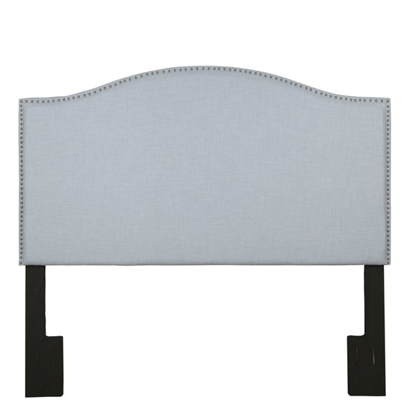 Home Meridian Spa Blue Camelback Upholstered Headboards RH-320-A3071-HB-VAR