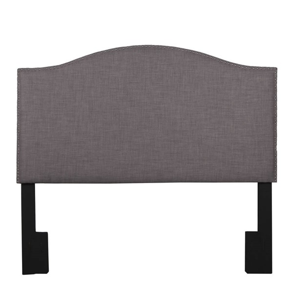 Home Meridian Brown Camelback Full Queen Upholstered Headboard RH-320-A3071-250-684