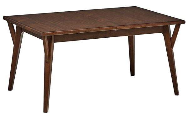 Samuel Lawrence Brown Dining Table With Removable Leaf RH-320-C043-130