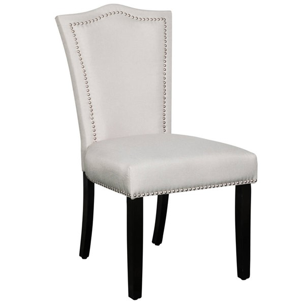 Home Meridian Warm Gray Flared Back Upholstered Dining Chair RH-320-C147-707-461