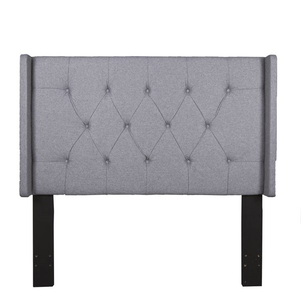 Home Meridian Grey Shelter Button Tufted Full Queen Headboard RH-320-D017-250-687